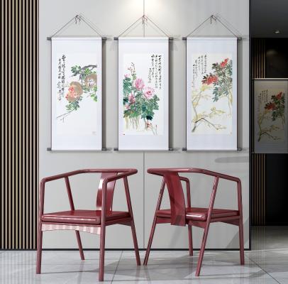 中式红木单椅