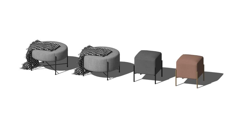 现代凳子组合