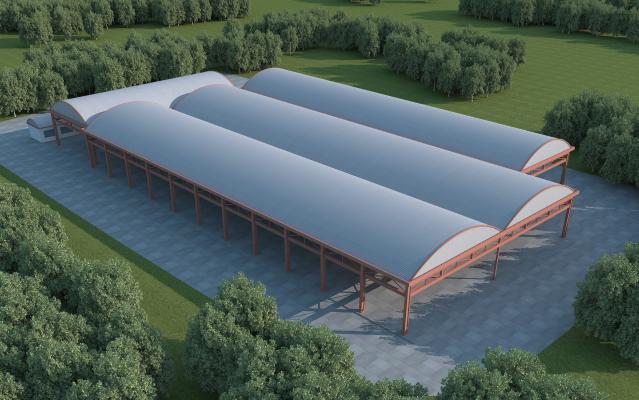 现代钢架大棚厂房 农贸市场