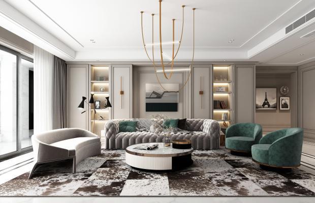 新古典客厅 沙发