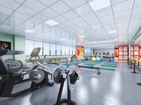 现代健身室 瑜伽 荣誉室