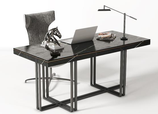 新中式书桌椅 工作位 书椅