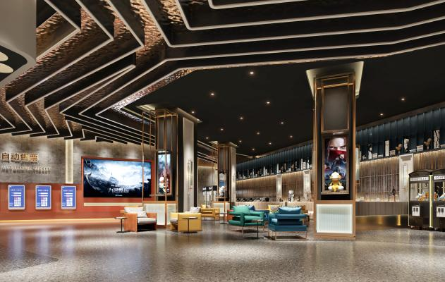现代电影院 大堂 走廊