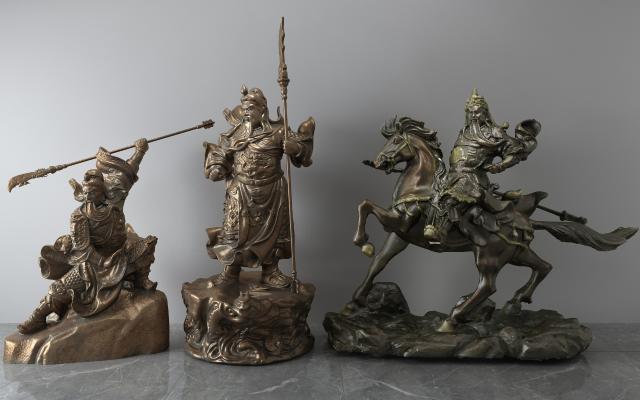 现代关羽关公青铜雕像
