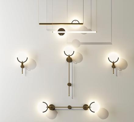 现代轻奢金属壁灯