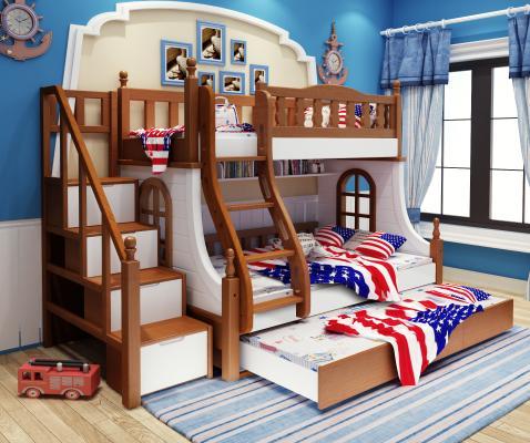 地中海卧室 儿童床