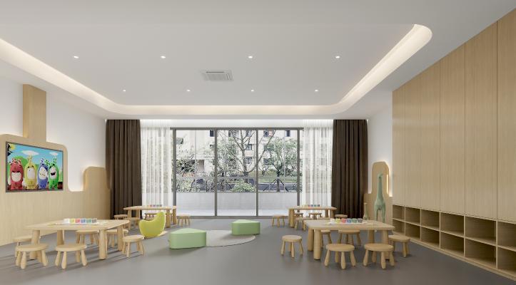 现代幼儿园活动室