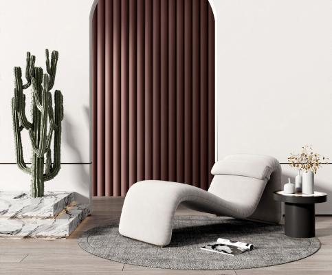 现代休闲沙发边几组合