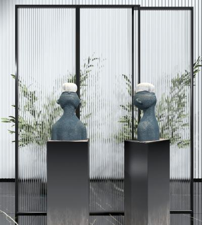 现代人物雕塑 装饰品