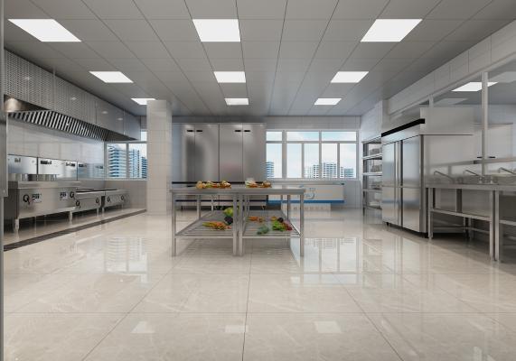 现代酒店厨房