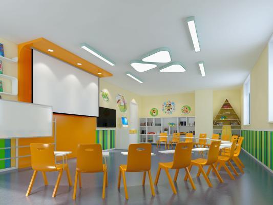 现代儿童英语教室 早教教室 幼儿园教室