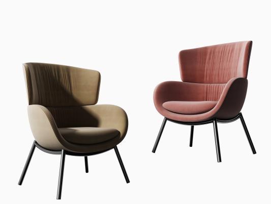 现代休闲椅组合