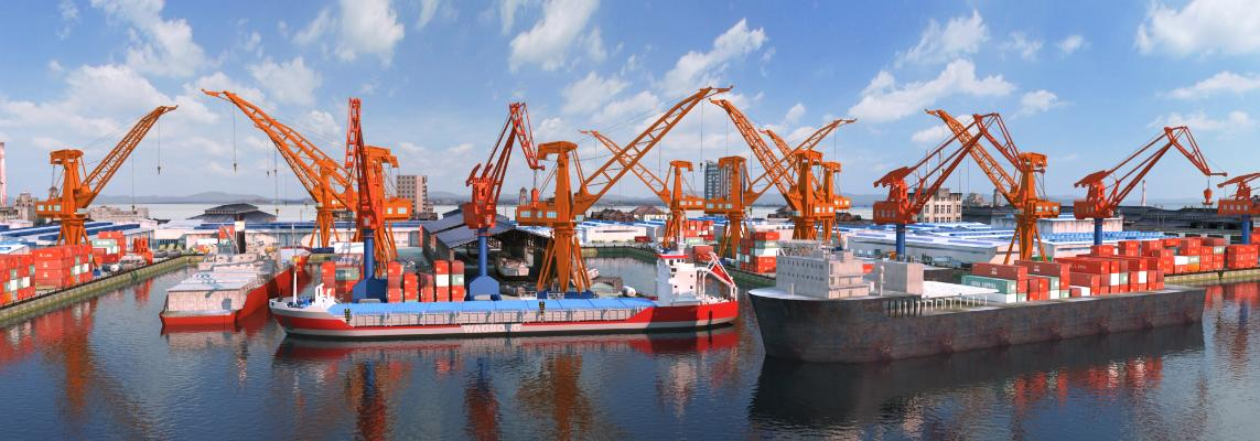 现代工业船舶
