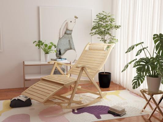 北歐躺椅 掛畫 盆栽