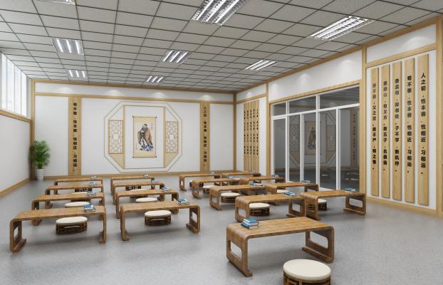 新中式学校 幼儿园 教室 早教