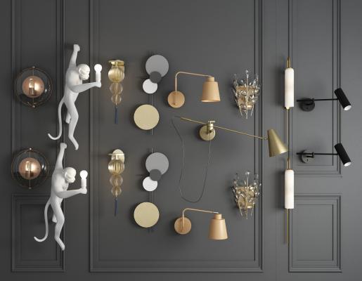 现代风格壁灯 玻璃壁灯 水晶壁灯