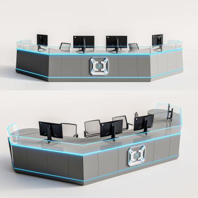 现代电竞办公桌 电脑 转椅