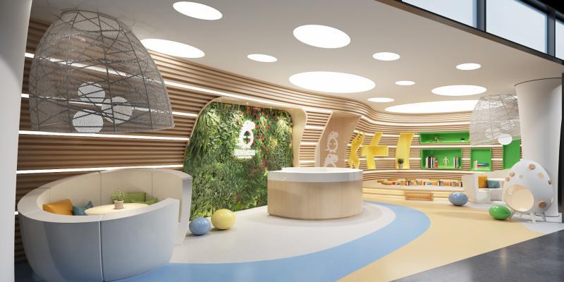 现代幼儿园儿童教室 儿童娱乐区