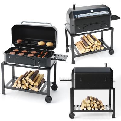 现代烧烤架 烤炉 香肠