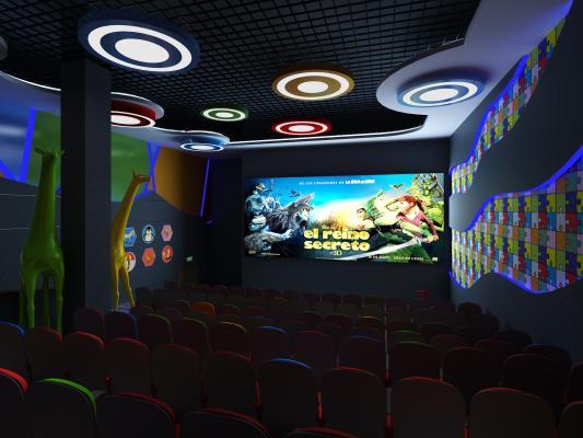 现代电影院 儿童放映厅