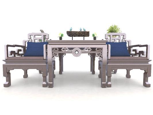 新中式风格单人沙发