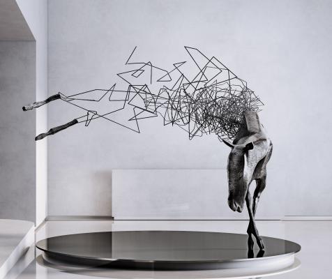 现代马雕塑