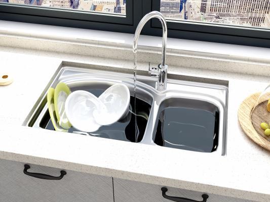 现代水槽 水盆 碗