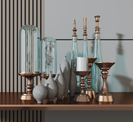 现代装饰品组合