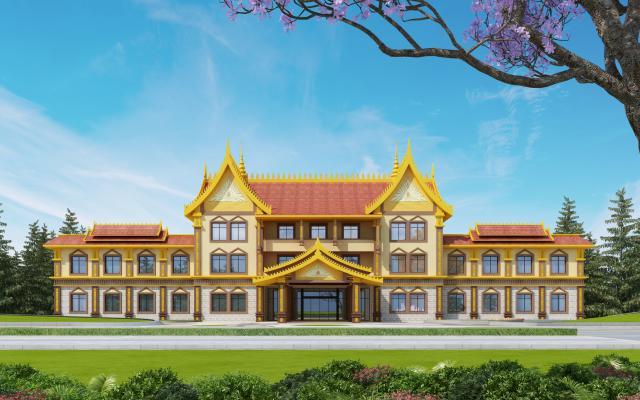 东南亚办公楼外观
