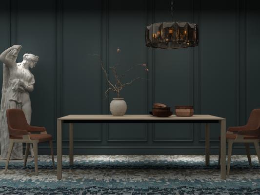 后现代餐桌椅 雕塑
