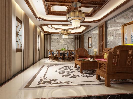 新中式风格餐饮空间 包厢