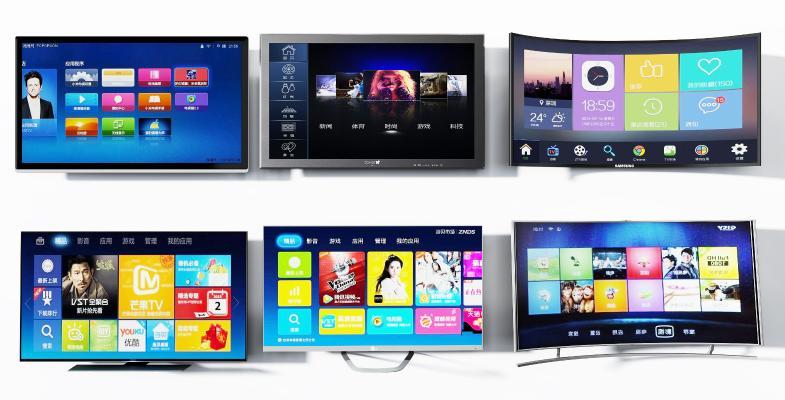 现代曲屏立式液晶电视组合