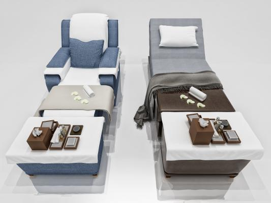 现代按摩椅 按摩床组合