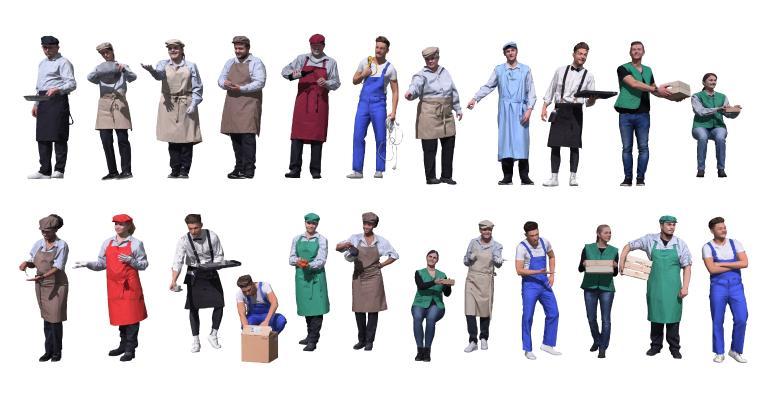 现代多人 厨师 大厨