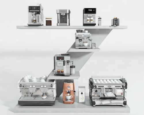 现代咖啡机组合