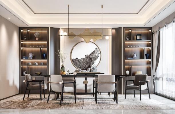 新中式餐廳 餐桌椅