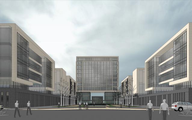现代产业园建筑景观