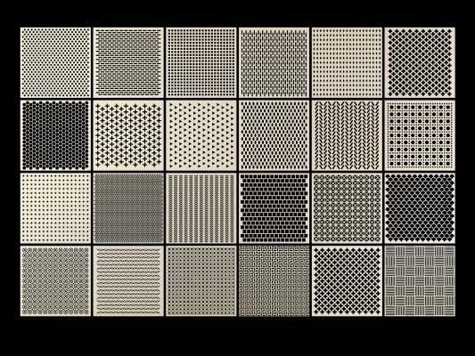 现代穿孔铝板 冲孔板 铝板