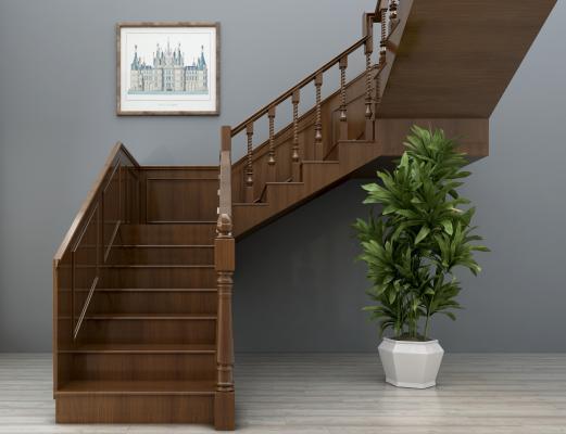 美式楼梯 栏杆