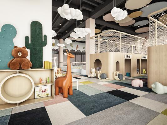 現代兒童樂園 兒童活動室 兒童屋