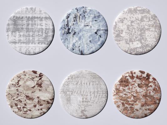 现代地毯 布艺地毯 图案地毯
