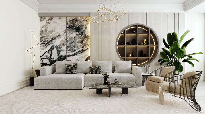 法式輕奢客廳