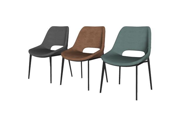现代时尚简约单人椅组合