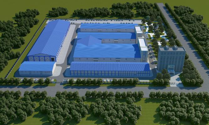 现代厂房 厂区 工业园