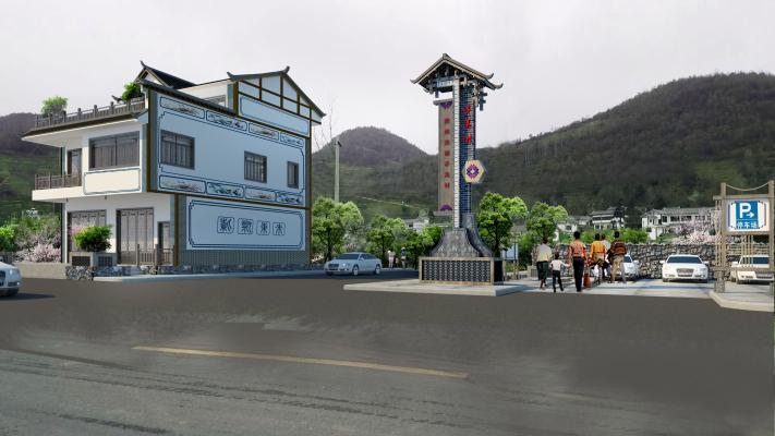 新中式停车场