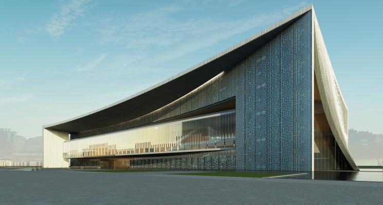 现代大型体育建筑 展览馆 博物馆