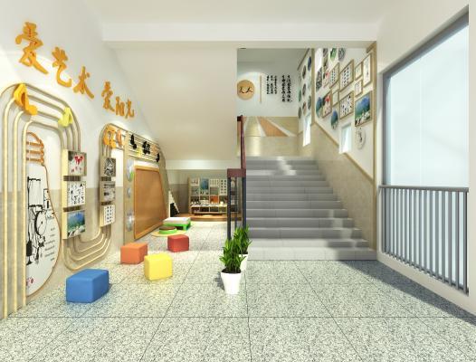现代学校 楼梯角