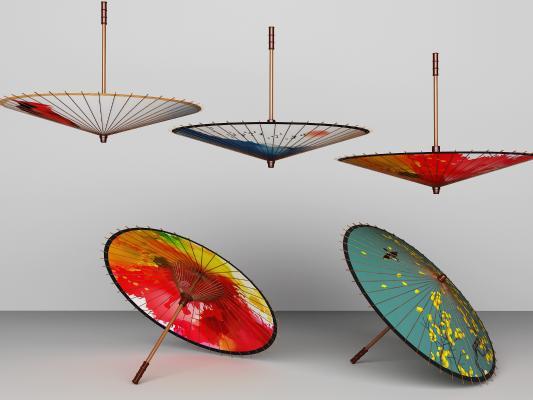 新中式油纸伞 雨伞灯