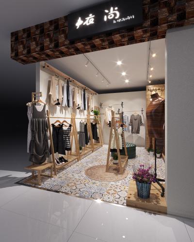 东南亚服装店 女装店货架
