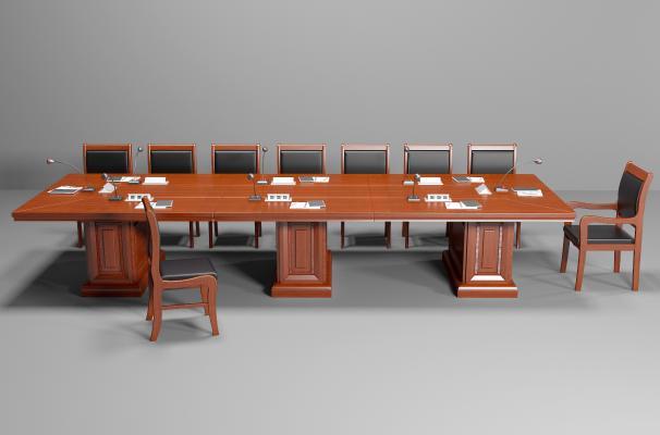现代会议桌椅组合 办公桌椅组合 洽谈桌椅组合